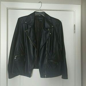 INC Faux Leather Moto Jacket